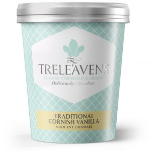 Treleavens traditional cornish vanilla ice cream