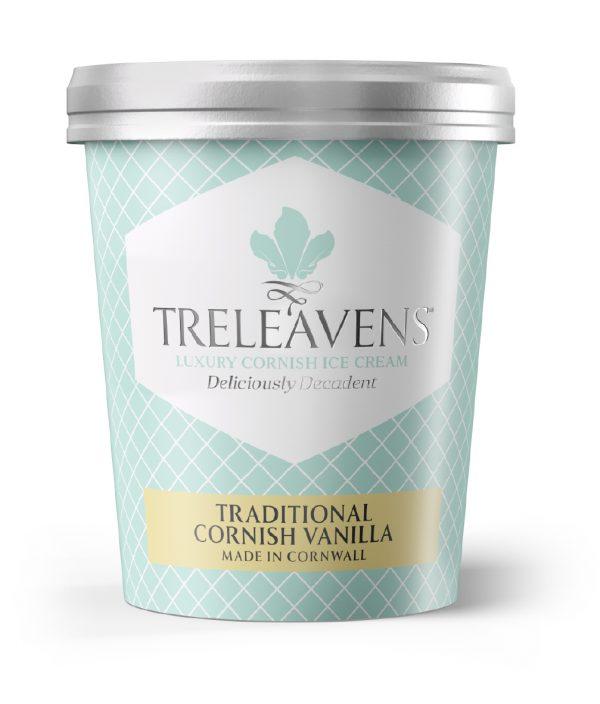 Treleavens traditional cornish vanilla ice cream